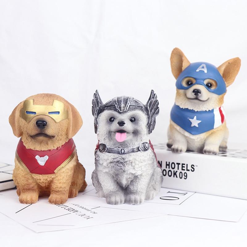 Hucha bonita creativa de Anime para perros hucha para perro hucha bonito cachorro ahorro de monedas maceta decoración hogar figurita regalo