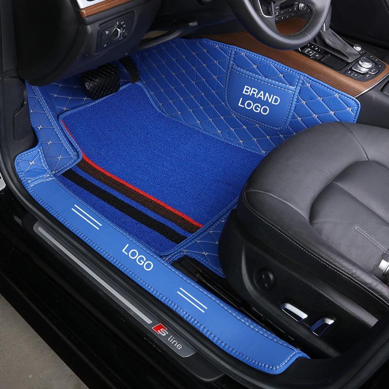 مخصص صالح الحصير سيارة طبقات مزدوجة دائم الجلود السجاد للمقعد الأمامي (فقط لمقعد واحد)