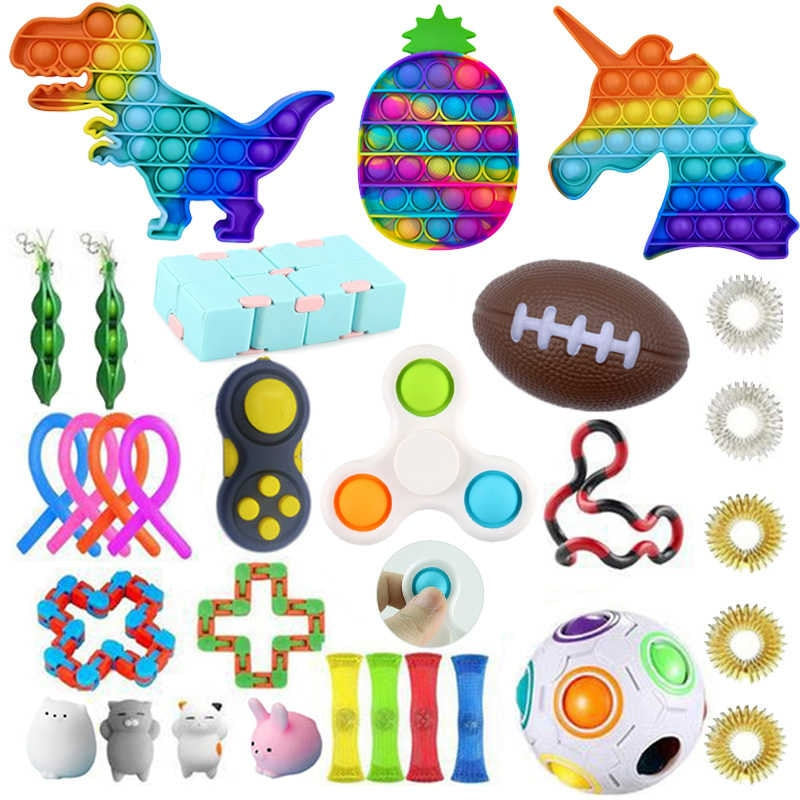 Toys figet anti stress assembly stretchy strings push adult gift pack squishy sensory anti-stress relief figet toys enlarge