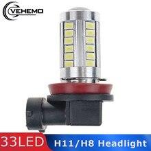 Vehemo phare antibrouillard 12V   H11/H8 SMD5630, blanc, phare Super lumineux de conduite pour voiture