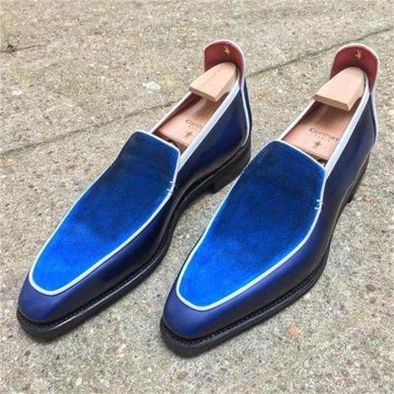 جودة عالية جديد أزياء الرجال جلد الغزال أنيقة الانزلاق على حذاء خمر عارضة الكلاسيكية الذكور متعطل أحذية Zapatos دي هومبر HC473