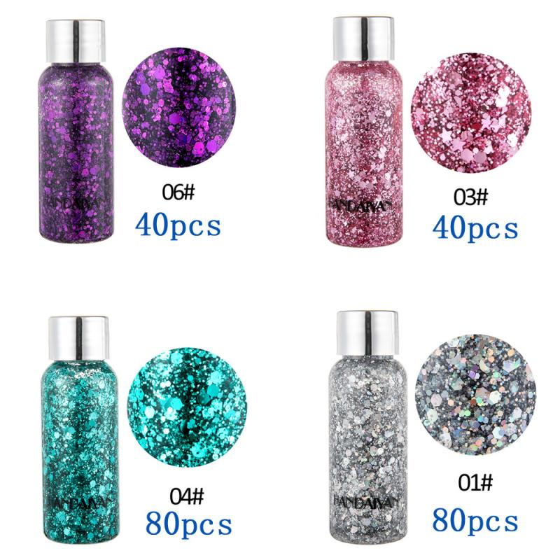 【VIP Exclusive Link】240pcs Eyeshadow Glitter Nail Hair Body Face Glitter Gel Liquid Sequins Part