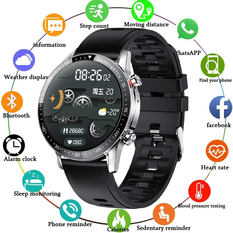 LIGE جديد الرجال ساعة ذكية معدل ضربات القلب ضغط الدم الرياضة اللياقة البدنية ساعة IP68 مقاوم للماء ساعة ذكية فاخرة الذكور ل iOS أندرويد
