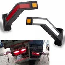 Универсальные отражатели 2 шт светодиодный неоновый стебель мигающий Боковой габаритный фонарь светильник 12V 24V грузовик с прицепом габаритного фонаря Водонепроницаемый