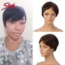 Sleek Human Hair Wigs Pixie Cut Wig 100% Remy Brazilian Hair Short Human Hair Wigs For Black Women 150% Density Fast Short Wig