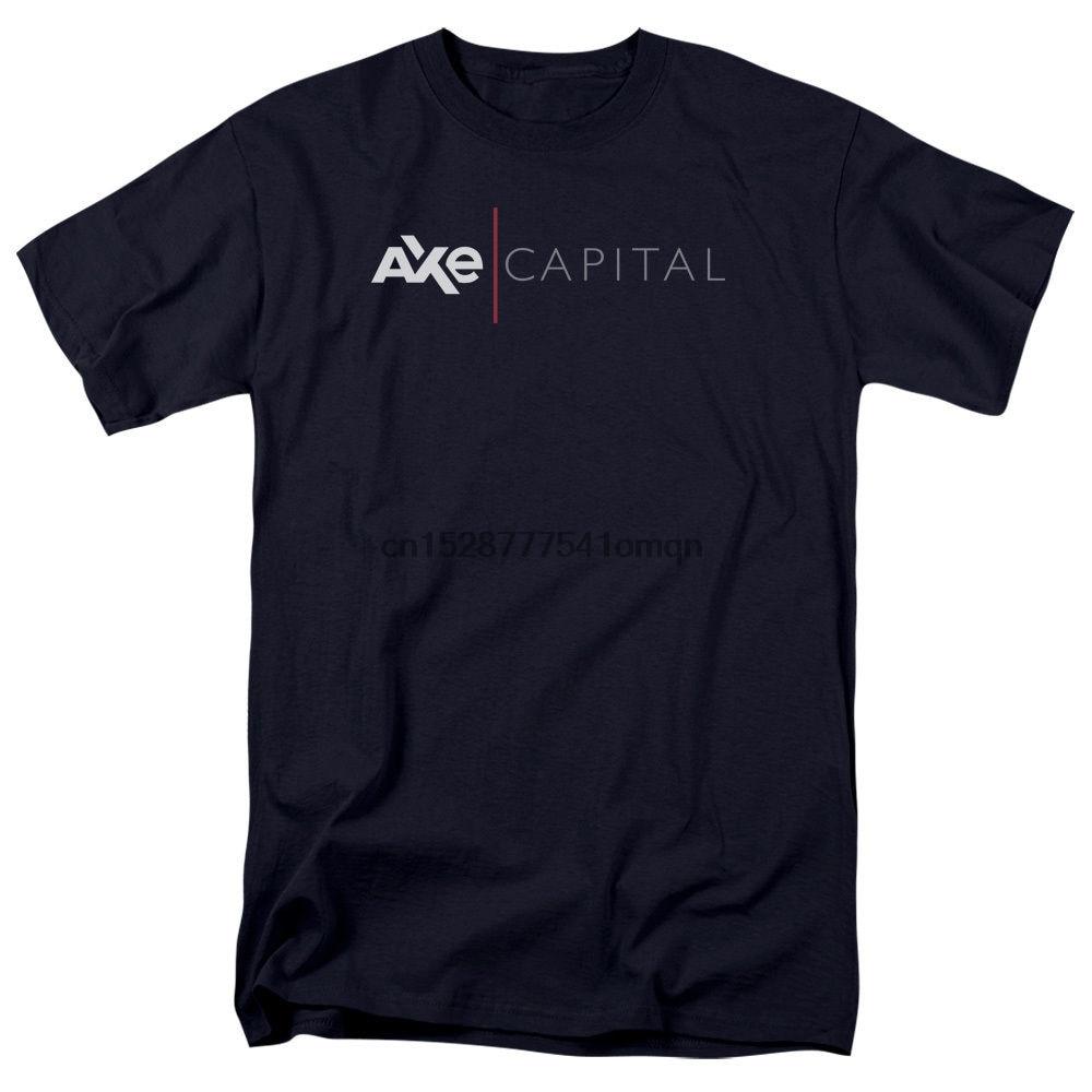 Camiseta para adultos con logotipo autorizado corporativo de AXE, programa de televisión de miles de millones, todas las tallas, Envío Gratis, nueva moda, 100%, Camiseta de algodón para hombre