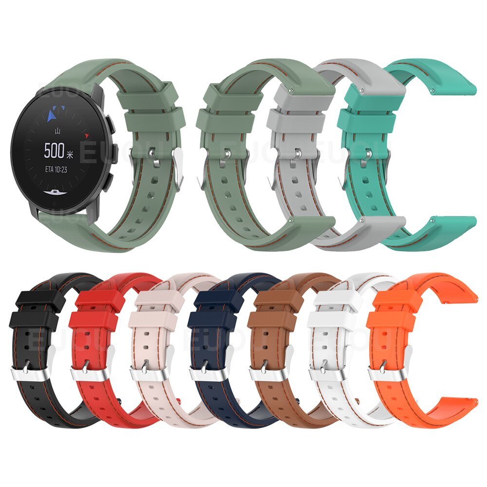 watchband for suunto 9 peak suunto 3 watch strap band soft silicone wristband bracelet replace accessories For SUUNTO 9 PEAK Watch Strap Suture Silicone Band For SUUNTO 3 Wristband Watchband Bracelet Replaceable accessories