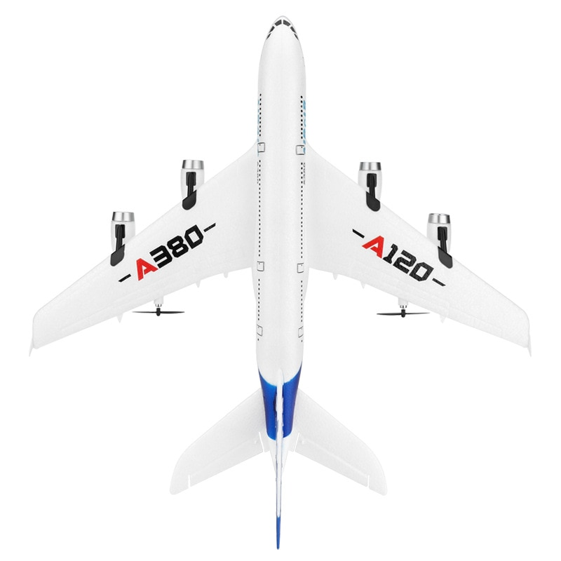 Airbus A380 Rc Plane 2.4G Three Channels Back Push Dual Power Gliding Electric Airplane Outdoor Remote Control Flying Toys Gift enlarge
