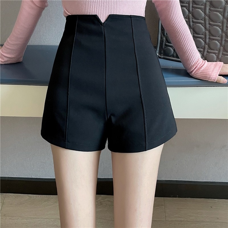 New Spring Elegant Women's Clothing Fashionable Versatile Korean Style A- line Wide Leg Shorts High