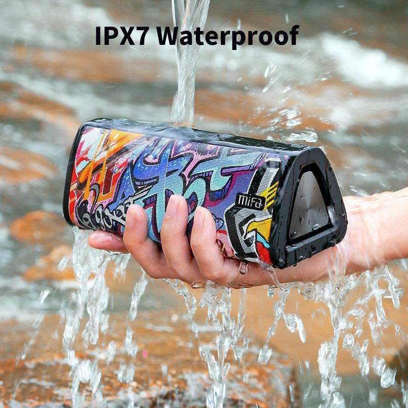 Mifa-Altavoz bluetooth 5.0 A10+, reproductor de msica porttil inalmbrico con sonido estreo 360, resistencia al agua IPX7, enlarge