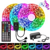 music led strip rgb 5050 smart led strips lights 12v flexible ribbon color changing rgb tape with controller 5m 7 5m 10m 15m led