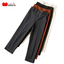 Winter Woolen Pencil Pants Women 2019 New Wool Harem Elegant Trousers Female Autumn Warm Casual Solid Women's Ankle-Length Pants
