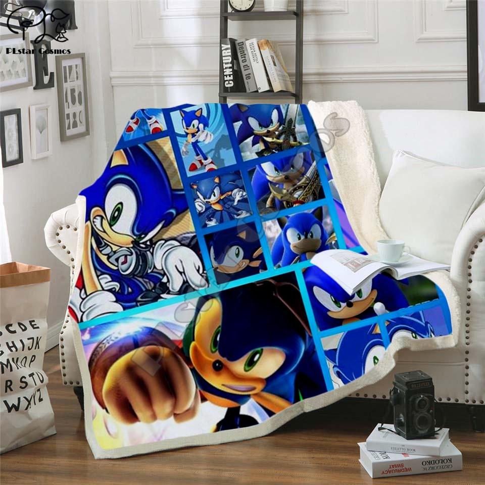Manta súper sónica de Anime, diseño de franela, manta polar estampada para niños, manta cálida para niños, manta para recién nacidos bayby 001