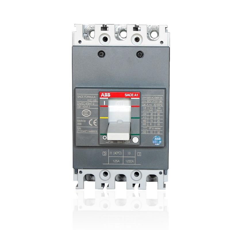 ABB Molded case circuit breaker switch A1N125 A2N250 A3N400 A3N630 3P32A40A50A63A80A125A160A200A250A320A400A630A