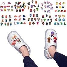 10pcs Cute Animals PVC Shoe Charms Buckles Unicorns Shoes Accessories Croc Charms JIBZ Shoe Decor Gift to Kids Friends