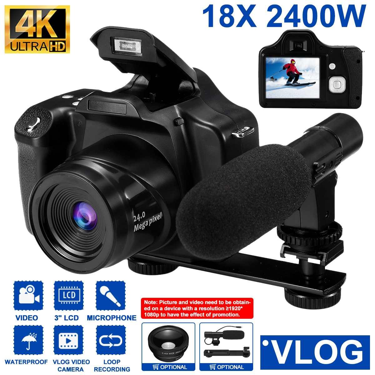 30 MP 4K Professional HD Camcorder vlog Video Camera Night Vision Touch Screen Camera 18X Digital Zo
