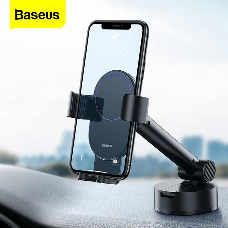 Baseus-حامل هاتف السيارة Gravity ، مع كوب شفط مرن ، للهاتف الذكي