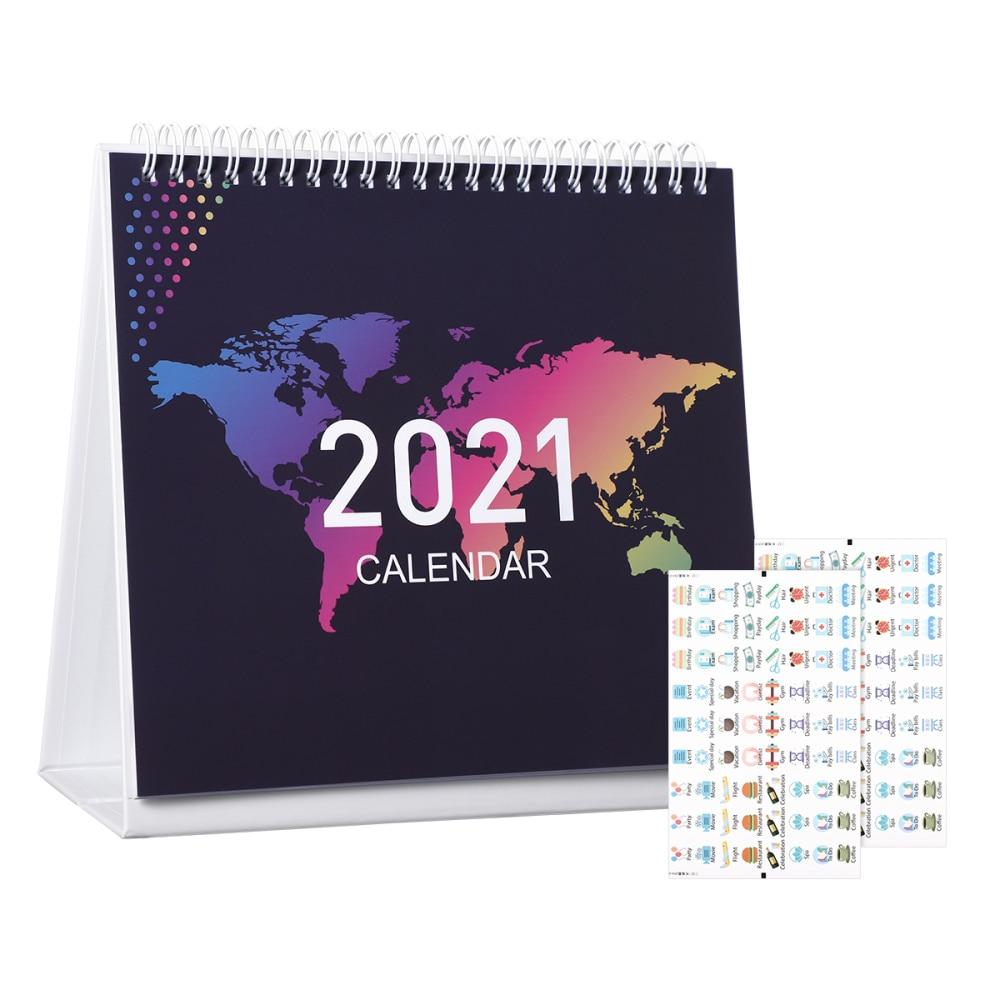 STOBOK 2021 Desk Calendar 12 Months Standing Calendar Runs from January 2021 to 2021 Daily Planner 2021 Full Year Calendar