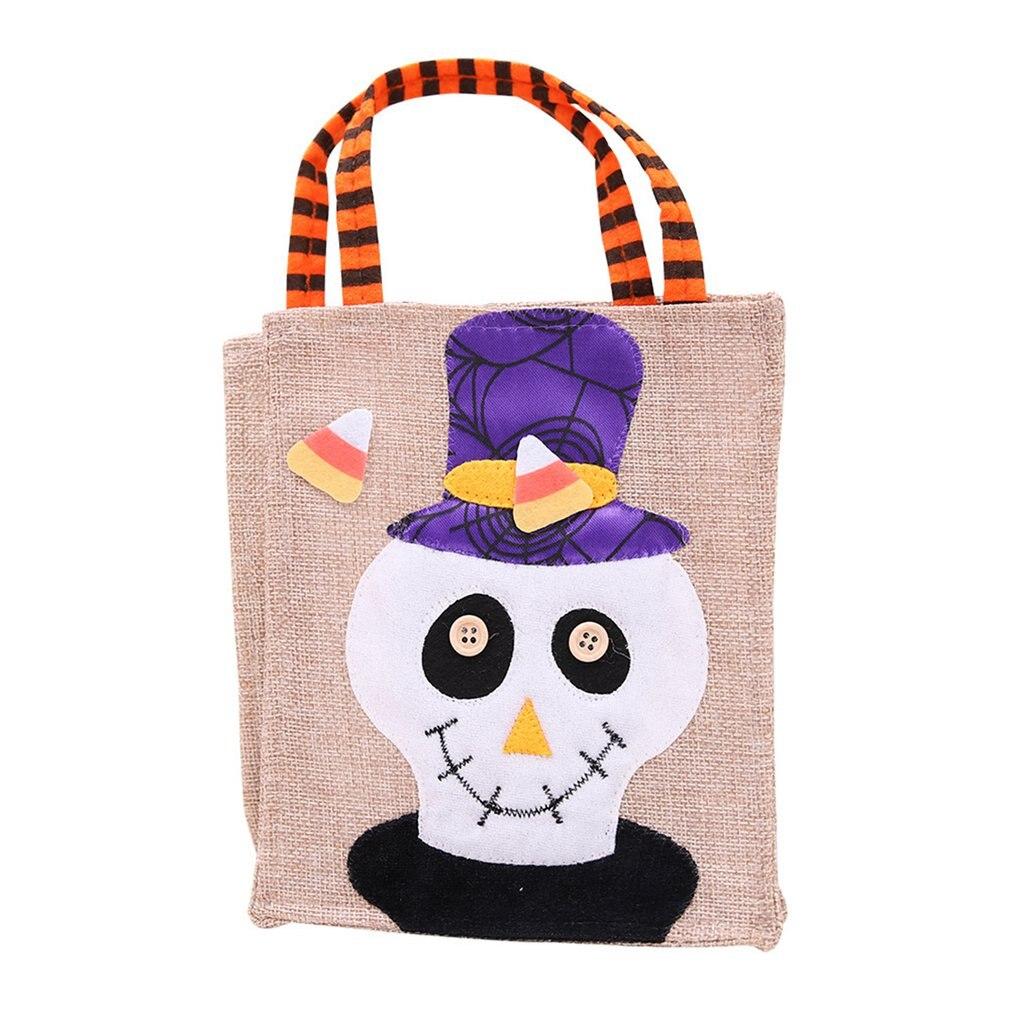 Halloween decoração suprimentos desenhos animados padrão quadrado sacola festival fantasma crianças doces presente saco