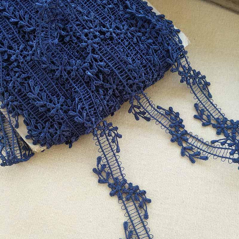 1M de alta calidad de tela de encaje boda Trim ancho 3cm cinta de encaje cortina adornos para ropa, costura Collar guipur encajes QZ14