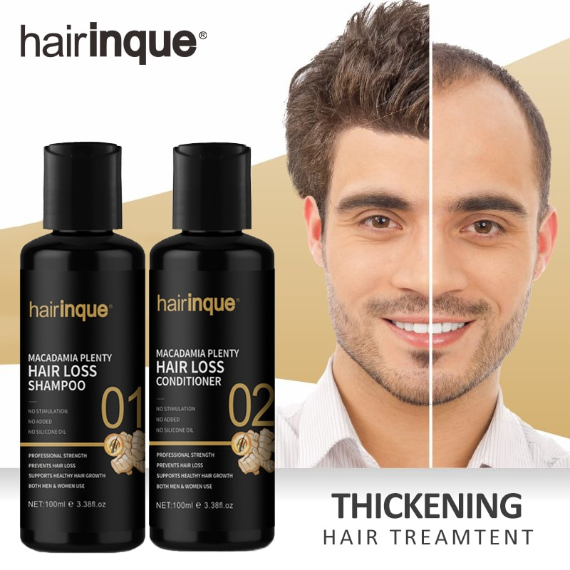 Brazilian Keratin Hair Growth Shampoo & Conditioner Set Enhance for Hair Regrowth Gifts Set Repair Prevent  Men Women Care 200ml