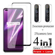 4 IN 1 On for OPPO Realme 6 Pro Screen Protector Glass for Realme 6i 6i Film Protective Tempered Camera Len Glass Film Realme6i