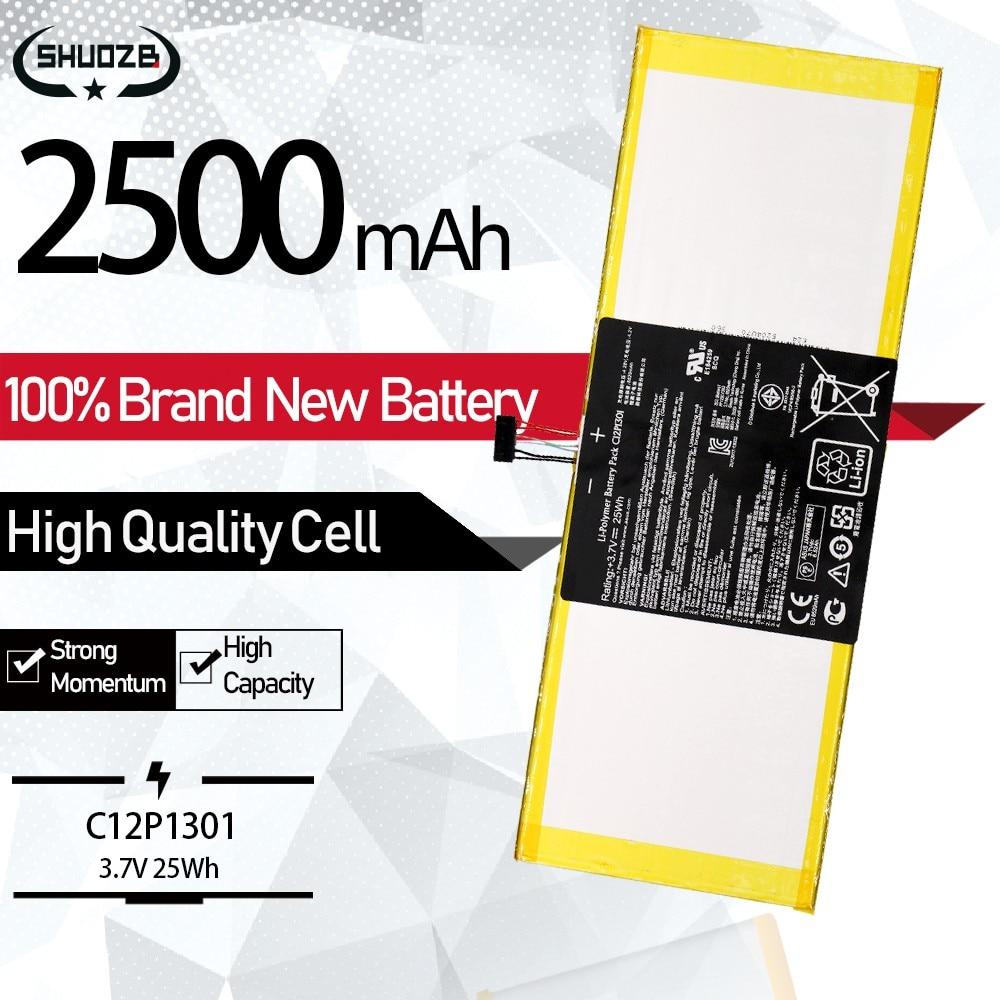 "3,7 V 25Wh C12P1301 batería de portátil para ASUS MemoPad 10,1 ""MEMO PAD K00A ME302C TF303K 1B014A 1D020A 1D021A envío gratuito"