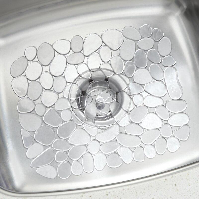 AliExpress - 30*40cm Adjustable Kitchen Sink Dish Drying Mat Soft Plastic Sink Protector Pebble Design Sink Protector Transparent/Black