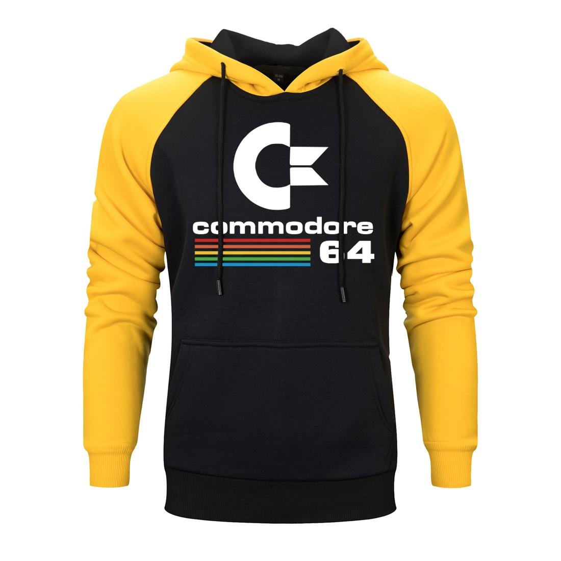 Men 2020 spring autumn Hip Hop Hoody Streetwear Sweatshirts Commodore 64 Raglan Harajuku Hoodies For Warm Clothing Fashion Tops