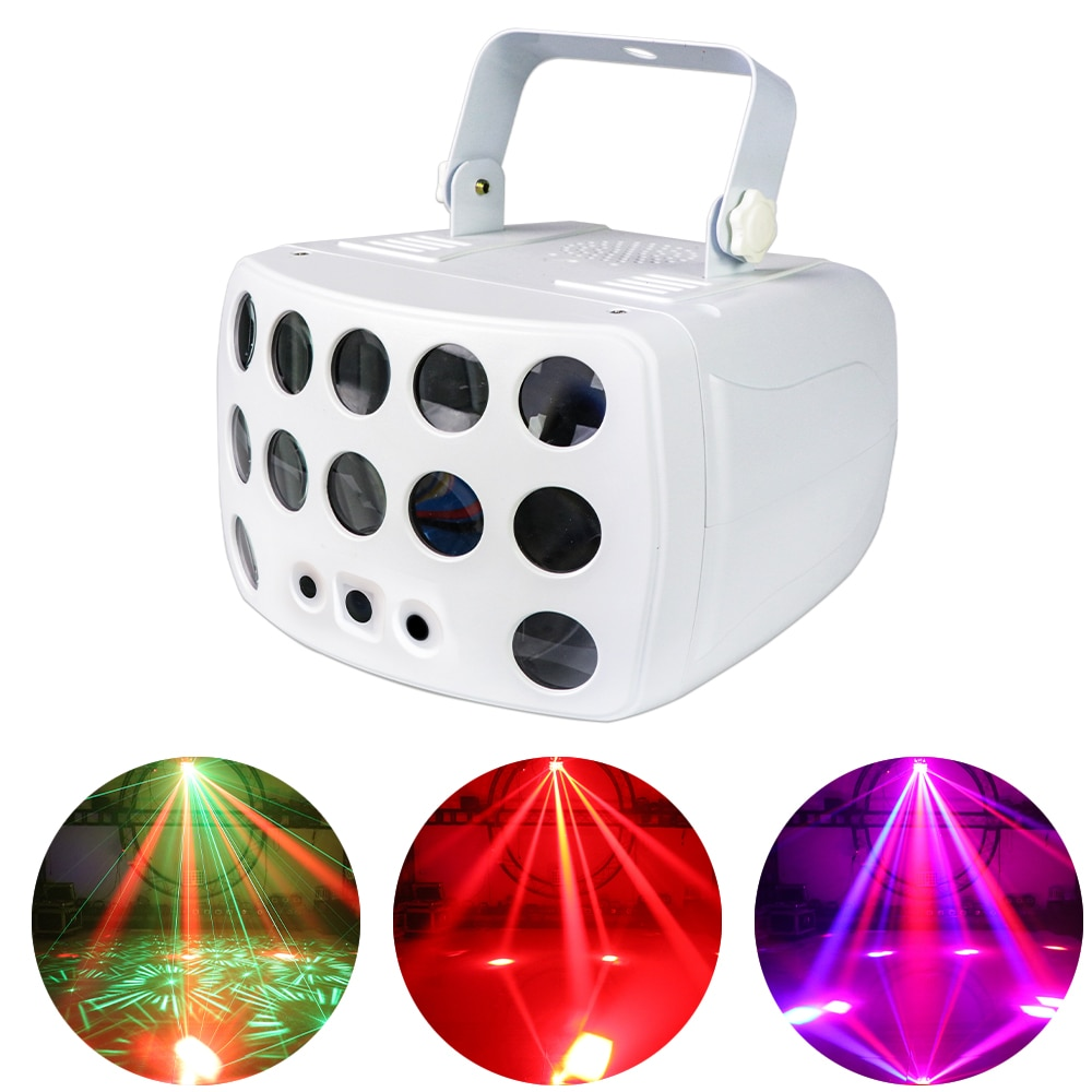 36W Beam Laser Firefly 3IN1 Stage Effect Light DMX512 Butterfly Light RG Laser Scanning Lamp For Wedding Party Disco DJ DMX