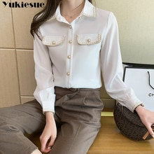 fashion woman blusas mujer elegantes 2021 summer Long sleeve Women's shirt Top blouses and shirts wo