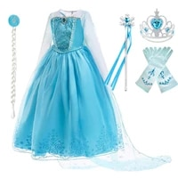 elsa dress for girl elza snow queen 2 cosplay princess costume with cloak children christmas birthday carnival party clothes