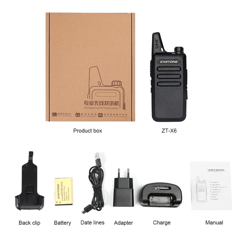 Zastone X6 Mini Walkie Talkie 400-470 UHF Walkie Talkie Portable Handheld Radio Comunicador Two-Way Ham Radio enlarge