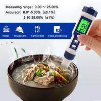 High-precision digital kitchen sea water salinity meter salt concentration meter Salimeter for food farming fish pondSoup