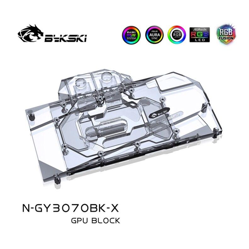 Bykski Water Block Use for GALAX GeForce RTX 3070 SG(1-Click OC) GPU Card / Full Cover Copper Radiator / RGB Light