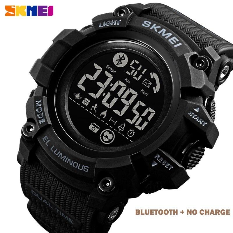 SKMEI Waterproof Digital Watch Men Calorie Heart Rate Monitor Mens Wristwatches LED Men Hour Clock With Batteryreloj hombre 1643