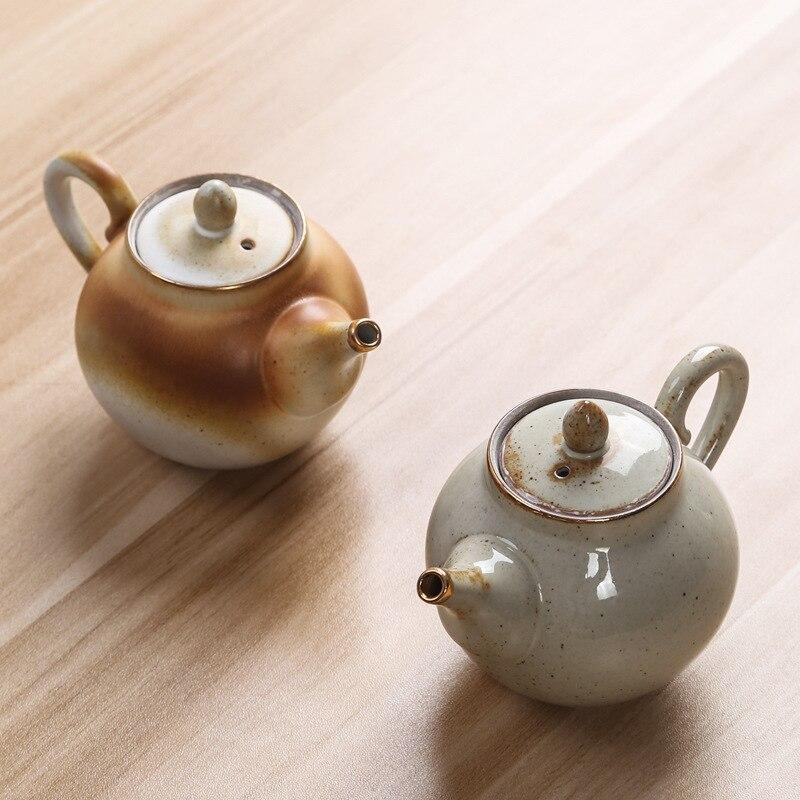 الجملة الحجري إبريق الشاي واحد إبريق الشاي اليدوية تماما الإبداعية خمر طقم شاي المنزلية سيتيل التقليدية الصينية ملعقة صغيرة