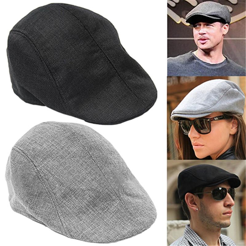 2020 Autumn Beret Caps Men Women Vintage News Boy Cap Cabbie Gatsby Linen Outdoor Hats Brand Sun Hat