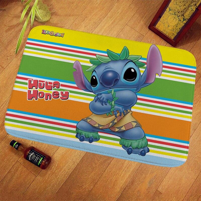 40x60/60x90/70x140cm Disney Stitch Doormat Kids Playmat Home Decor 100% Polyester Pattern Door Mat Floor Mat Foot Pad door mat sweet heart shape cute home decor floor mat4