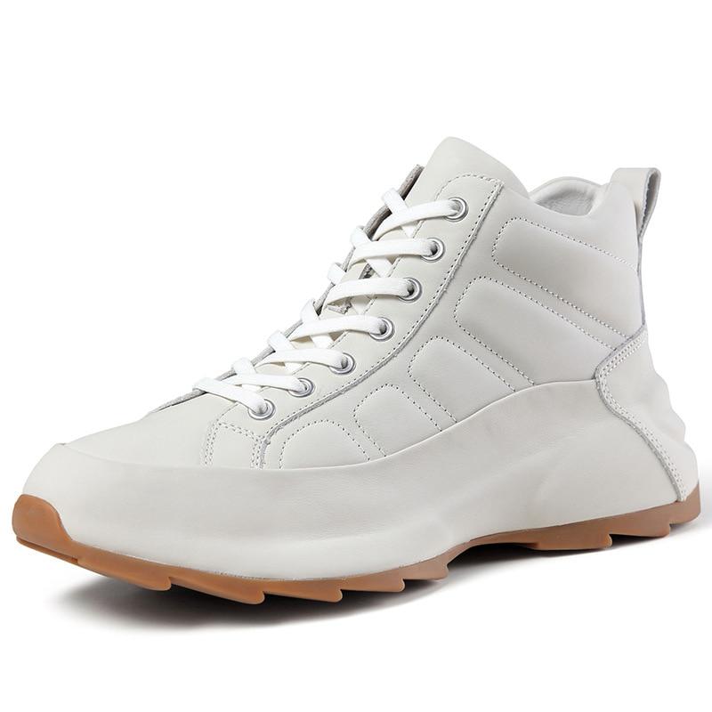أحذية رياضية جلدية عالية الجودة للرجال ، أحذية رياضية وترفيهية ، النسخة الكورية من اتجاه كل شيء ، أحذية رياضية ، مجموعة خريف جديدة