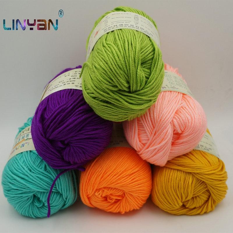 6 uds hilo para tejer hilo suave a Hilado de lana de punto bordado de ganchillo bebé hilo de tejer agujas suéter de fibra al por mayor zl6