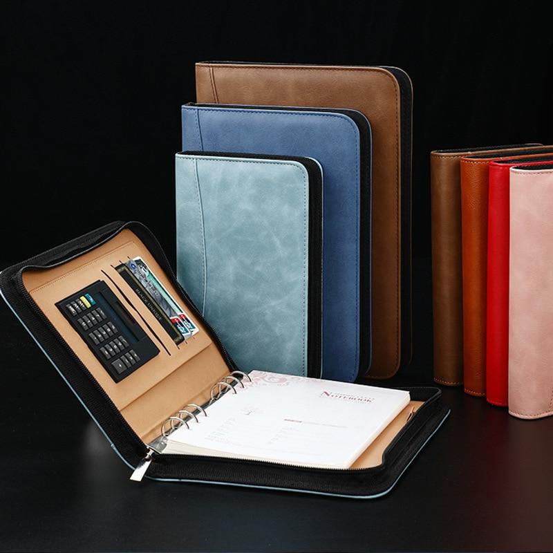 Блокнот для записей А5, А6, В5, папка с калькулятором деловой планировщик