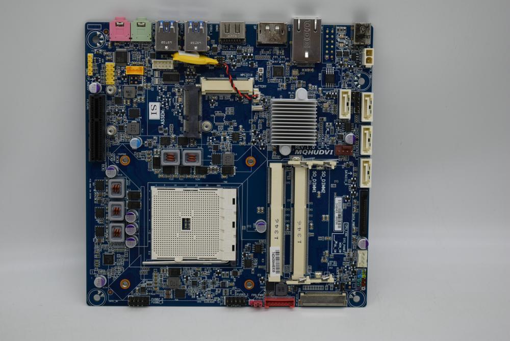 Для GIGABYTE MQHUDVI THIN MINI 17*17 FM2 A75 материнская плата ITX DC powered LVDS оригинальная используемая материнская плата
