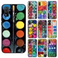 watercolors set paint palette box phone case for xiaomi 6 8 9 se a2 lite 10 t 11 mix max 2s 3 note 10 pro lite nax fundas cover
