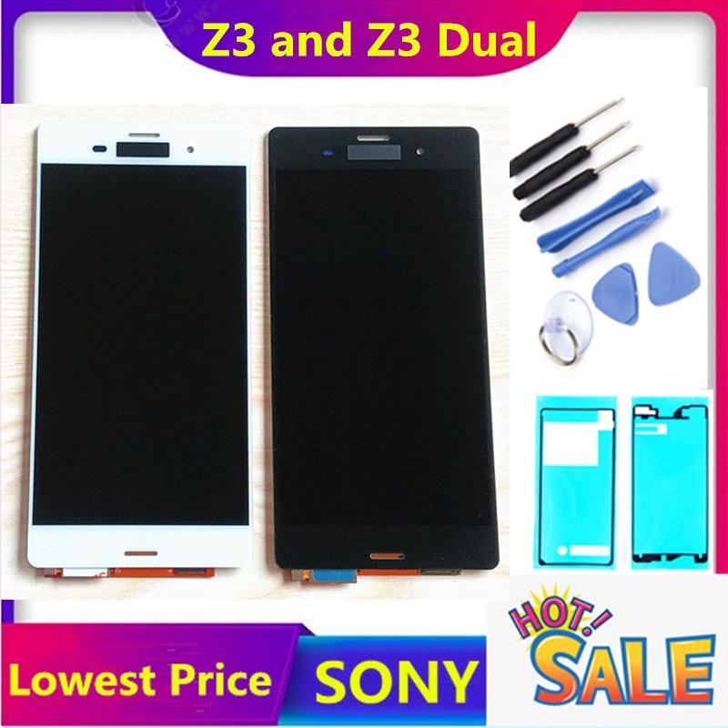5,2 ORIGINAL para SONY Xperia Z3 pantalla LCD pantalla táctil D6603 D6616 D6653 reemplazo LCD para SONY Xperia Z3 Dual D6633 D6683