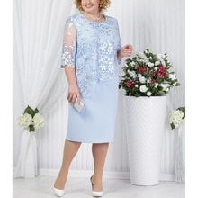 Plus Size Mother Of The Bride Dresses Half Sleeve Formal Wedding Party Gown Lace Patchwork robe mere