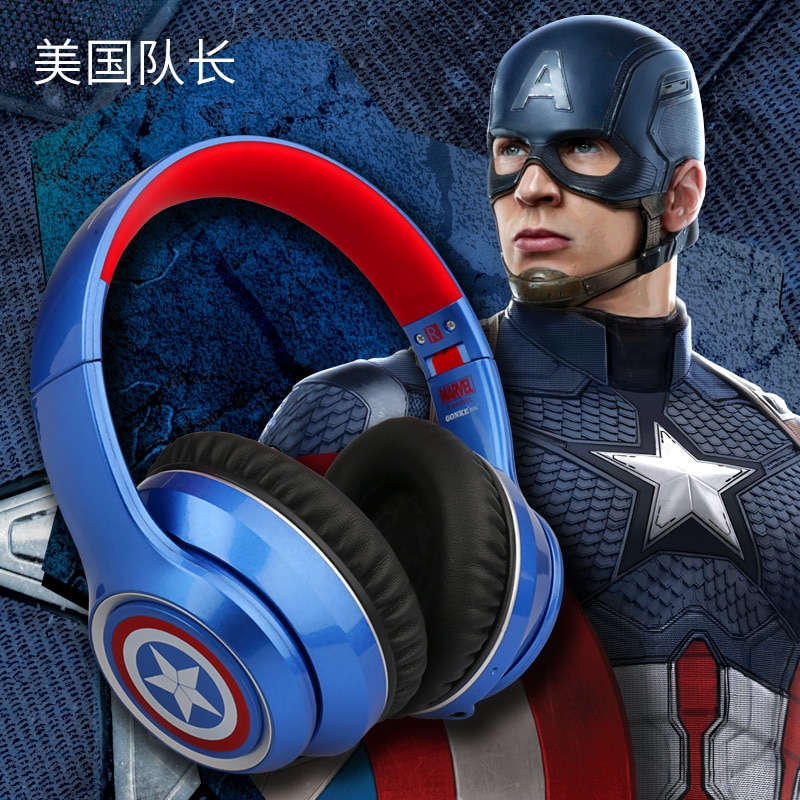 Marvel Certified Head-mounted wireless Headset Bluetooth 5.0 Iron Man ANC Active Noise reduction headset with super long standby enlarge