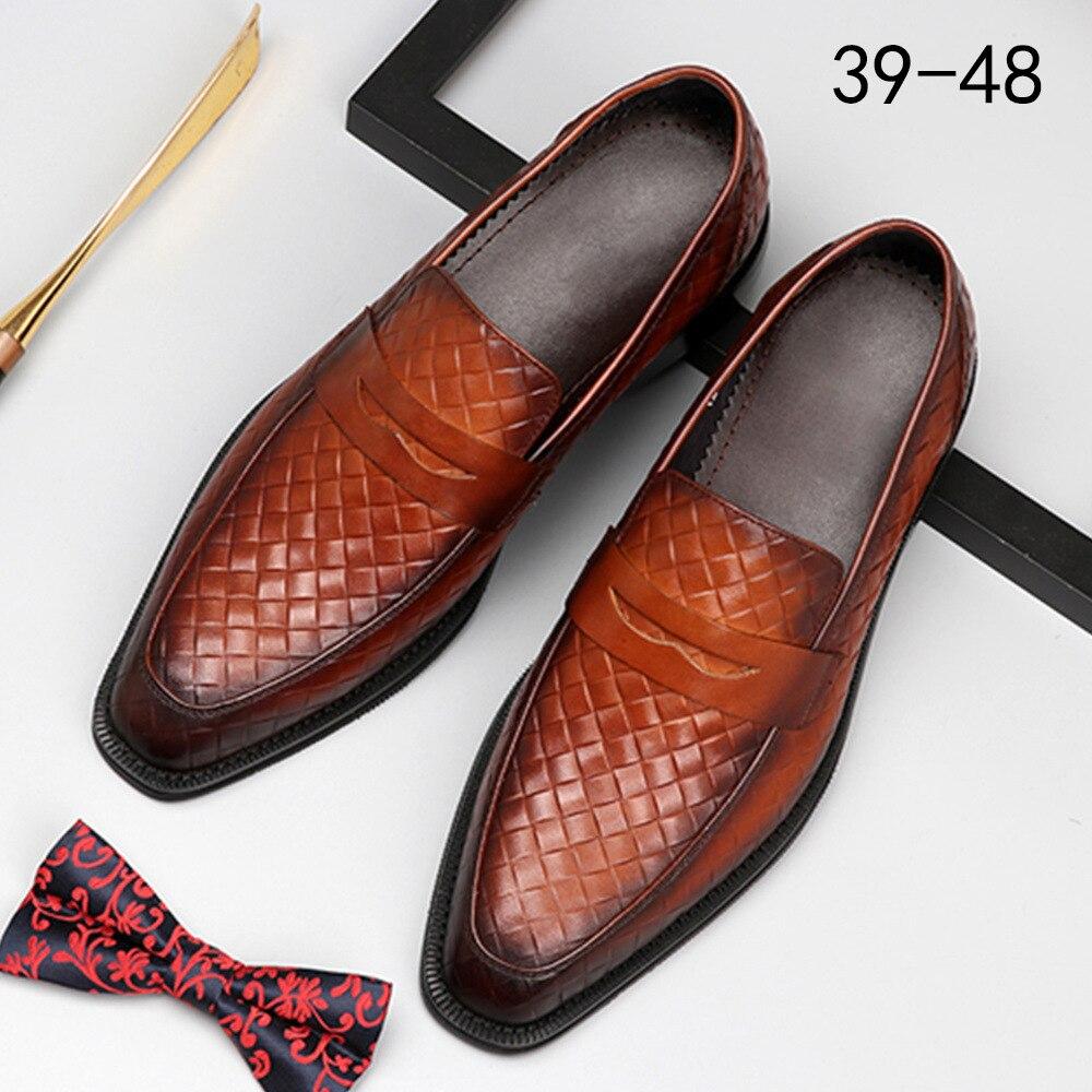 2020 New Tassels Mens Dress Shoes Leather Loafers Men Shoes Breathable Formal Wedding Shoes Herren Schuhe Zapatos De Hombre