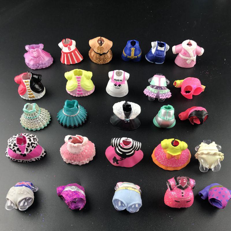 4 шт./лот, оригинальное платье, одежда, костюмы для девочек 8 см, куклы-сестры, детская коллекция, игрушка для девочек, подарок на день рождения