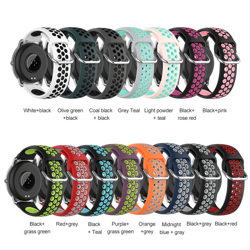 Silicone Strap Suitable For Xiaomi Haylou Solar LS05 Silicone Sports Two-color Strap 22MM Smart Watch Accessories 12 Colors